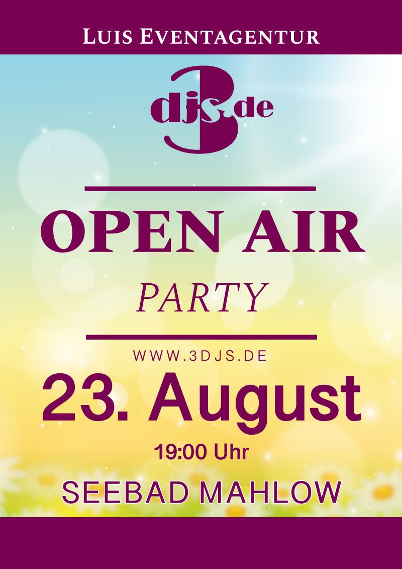 Open Air Party 23. August 2021
